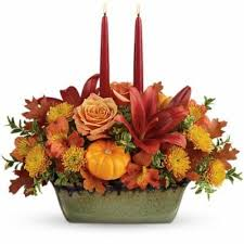 thanksgiving flowers table centerpieces cornucopia rockcastle