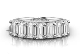half eternity ring 7 emerald diamond half eternity ring dhrz0087 diamond heaven