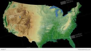 Kentucky Map Usa by Kentucky State Usa Extruded On The Physical Map Stock Animation