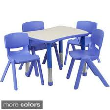 Plastic Table And Chairs Plastic Kids U0027 Table U0026 Chair Sets Shop The Best Deals For Nov