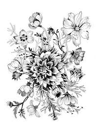 beautiful painted flower sketch royalty free cliparts vectors