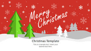 christmas powerpoint template slidemodel