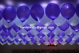 led balloons light blue white balloon with white leds