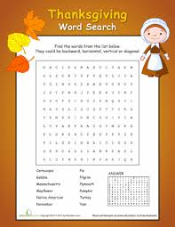 thanksgiving word search printable thanksgiving word search