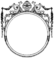 vintage picture frame clipart 103