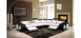 Two Tone Reclining Sofa Vgev4087 6 Reclining Sectional Sofa In Two Tone