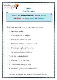 grade 3 grammar topic 6 nouns worksheets lets share knowledge