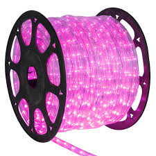 led rope lights 150 pink led rope light commercial spool 120 volt