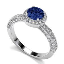 Sapphire Wedding Rings by Ring With Nearcolorless Sapphire Wedding Rings Fg Moissanite