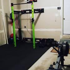 rubber home gym flooring interlocking tiles