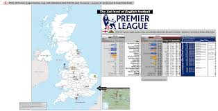english premier league results table england premier league 1st division 2015 16 location map with