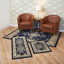 Living Room Rug Sets Pale Blue Rug 3 Pieces Wood Wall Shelves Set White Cabinet Cool