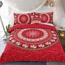 boho chic bedding sets bohemian style bedding are comfy bedding with boho chic bedding  sleepwish elephant mandala duvet cover red bohemian  bedding hippie bed set elephant from luxcomfybeddingcom