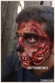 zombie half face prosthetic www etsy com shop kittygomeowfx