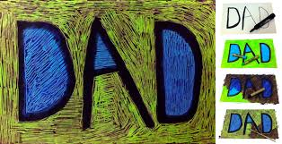 updated scratch art father u0027s day card art projects for kids