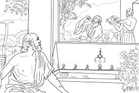 rich man and lazarus coloring page free printable coloring pages