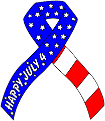 patriotic ribbon patriotic july 4 support ribbon clip
