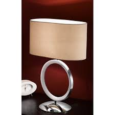 franklite tl871 chrome table lamp with beige oval shade