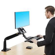 computer desk monitor lift ergonomic monitor lift arm keyboard sit stand desk mount adjustable
