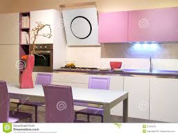 cream modern kitchen modern kitchen pink and cream coloured royalty free stock images