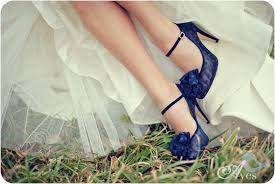 wedding shoes blue blue wedding shoes with dots ipunya