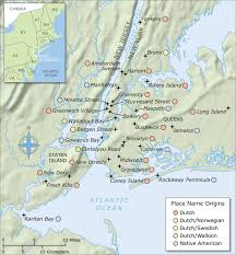 Long Island On Map New York Toponyms National Geographic Society