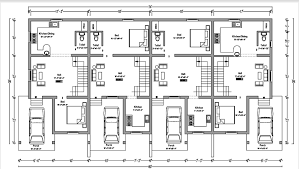 multi family home plans astonishing row house plan design contemporary best inspiration