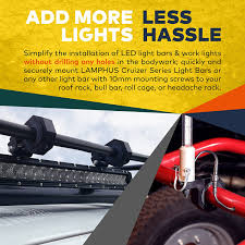 How To Install Led Light Bar On Roof by Amazon Com Lamphus Cruizer Led Off Road Light Horizontal Bar