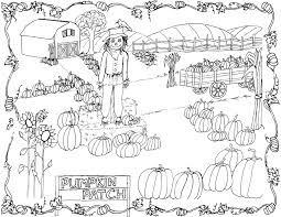 pumpkin patch coloring pages 4369