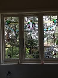californian bungalow stained glass window stained glass