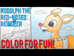 coloring book rudolph red nosed reindeer