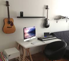 Apple Desk Computers by Decor Floating Shelves And Imac Desk Ideas With Upholstered Desk
