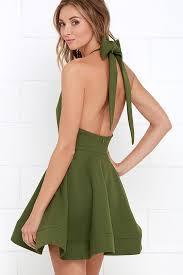 halter dress green dress halter dress skater dress 64 00
