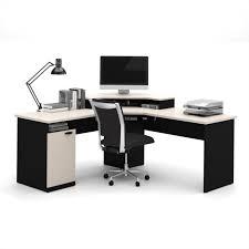 Best Desk For Home Office Bestar Hton Corner Computer Desk In Sand Granite Charcoal