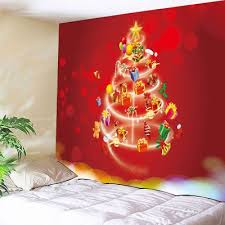wall hanging gift tree print tapestry w59 inch l51
