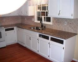 bright transitional kitchen design use white cabinet and exotic