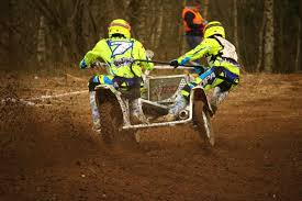 sidecar motocross racing motocross sidecar motorcycle race two people speed free image