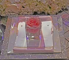 blinging charger plate weddings reception details pinterest