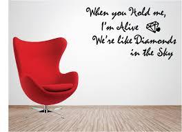 wall decals stickers home decor home furniture diy rhianna diamonds vinyl wall art quote sticker music lyrics love