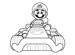 coloring pages mario kart wii virtren com