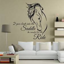 popular wall decals quotes buy cheap wall decals quotes lots from horse riding wall decal quote vinyl art if you climb into the saddle be ready for