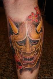 40 stunning mask tattoos on leg