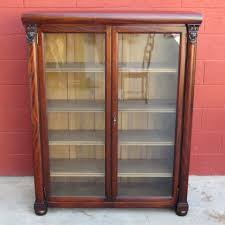 Vintage Bookcase With Glass Doors Antique Bookcase Antique Display Cabinet Antique Furniture Style