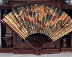 oriental fans wall decor asian home decor etsy