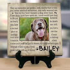 dog memorial personalized pet memorial canvas custom printed pet memorial