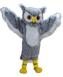 Snowy Owl Halloween Costume Custom Mascot Costume Mascot Heads Grey Owl Mascot Costume