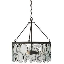 shop pendant lighting at lowes com allen roth grelyn 17 99 in aged bronze single clear glass drum pendant
