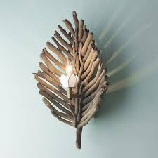 Driftwood Wall Sconce Driftwood Leaf Wall Sconce House Ideas Pinterest
