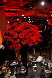 Red Roses Centerpieces Red And White Rose Themed Wedding House Design Ideas