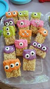 Nut Free Halloween Treats by Monster Rice Krispies Treats A Little Melting Chocolate In